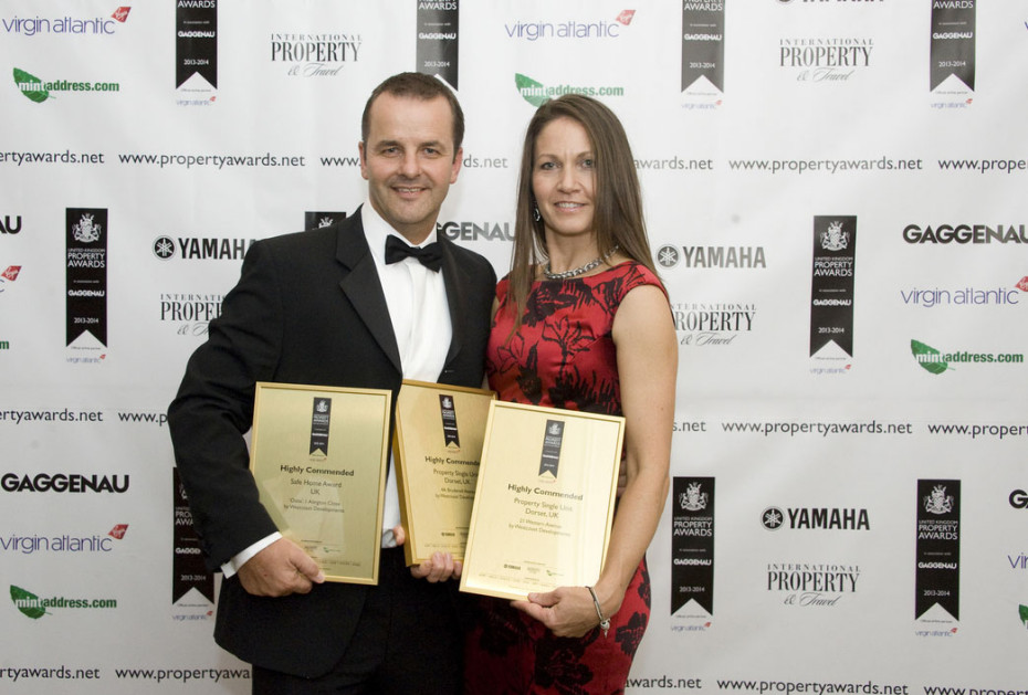 Westcoast Developments receives 3 Industry Awards at the 2013 UK Property Awards